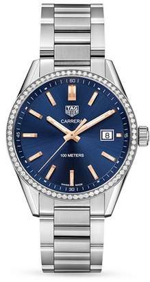 Tag Heuer Carrera Diamond Bezel Watch, 39mm