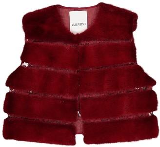 Valentino Red Mink Jackets