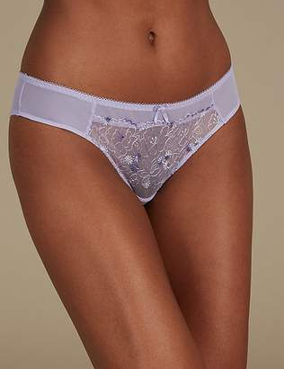 Marks and Spencer 2 Pack Embroidered Brazilian Knickers