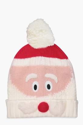 boohoo Christmas Holly Novelty Santa Beanie