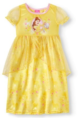 Disney Beauty & The Beast Belle Short Sleeve Fantasy Nightgown (Toddler Girls)