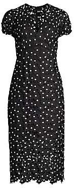 Shoshanna Women's Paulina Polka Dot Lace Dress - Size 0