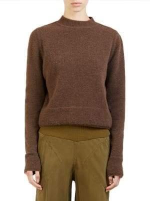 Rick Owens Wool-Blend Crop Sweater