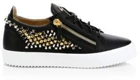 Giuseppe Zanotti Studded Leather Low-Top Sneakers