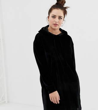 Daisy Street Plus plus hoodie dress in velvet cord