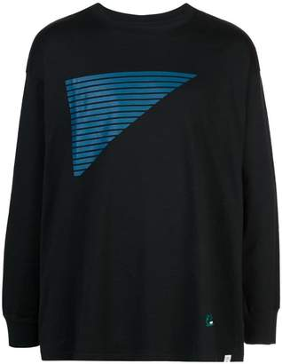 contrast stripe jumper