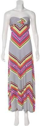 Mara Hoffman Printed Strapless Dress
