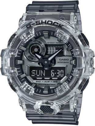 Casio Grey Skeleton Resin Watch