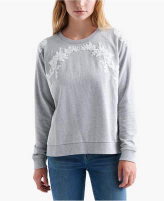Lucky Brand Floral Chenille Sweatshirt