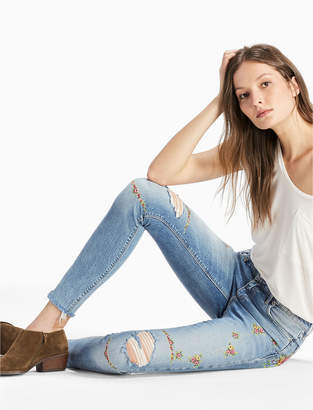 Lucky Brand AVA MID RISE SKINNY JEAN WITH EMBROIDERY