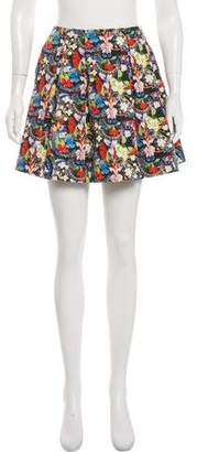 Alice + Olivia Floral Mini Skirt