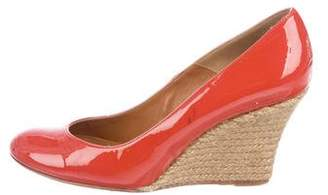 Lanvin Patent Leather Espadrille Wedges