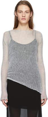 Ann Demeulemeester Grey Corolla Pullover