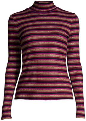 Generation Love Moira Stripe Long-Sleeve Knit Turtleneck Sweater