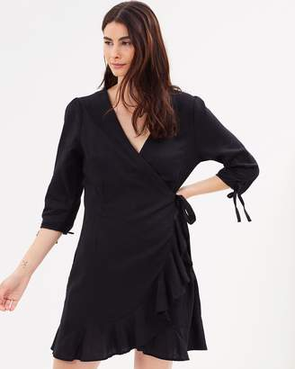 Cotton On Woven Charli 3/4 Sleeve Wrap Dress