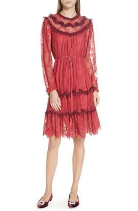 Needle & Thread Scallop Frill Lace Dress