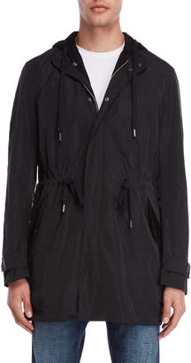 Imperial Star Black Hooded Raincoat
