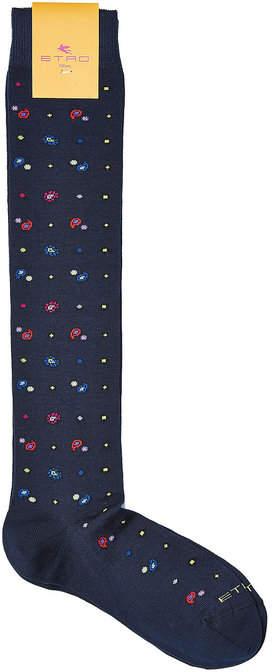 EtroEtro Printed Cotton Socks