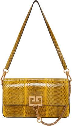 Givenchy Yellow Snake Small Charm Shoulder Bag