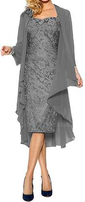 ModeC Lace Mother of The Bride Dress with Chiffon Jacket Wraps Formal Gowns US