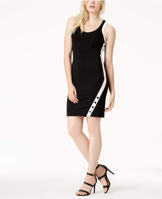 Bar III Snap Bodycon Dress, Created for Macy's