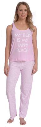 Wanted Women's Lightweight Silky Soft Racer Back PJ Set (, L)