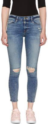 Frame Indigo Le Skinny de Jeanne Jeans