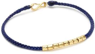 Tai Navy String Bracelet with Gold-Plated Charms