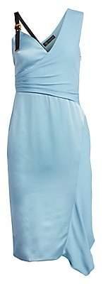 Versace Women's Buckle Shoulder Sheath Dress