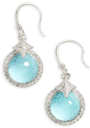 Armenta New World Diamond & Turquoise Drop Earrings