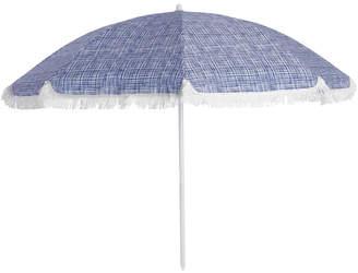 Vue Accra Beach Umbrella Fringed Blue