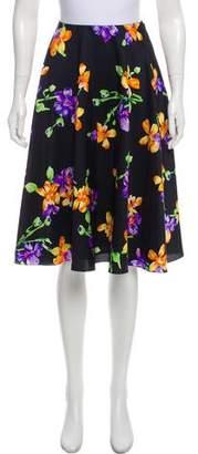 Ralph Lauren Floral Print Silk Skirt