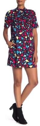 Love Moschino Short Sleeve Print Dress