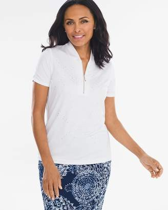 Zenergy Embellished Lines Polo Shirt
