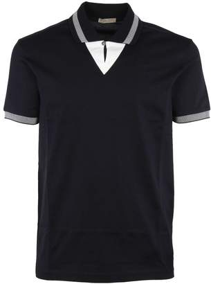 Bottega Veneta Striped Trim Polo Shirt