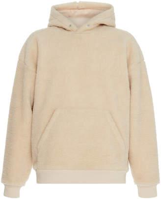 Givenchy Appliquéd Logo Shearling Hoodie