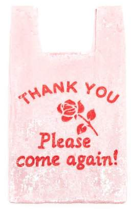 Ashish Thank You Please Come Again Sequinned Bag - Womens - Pink Multi