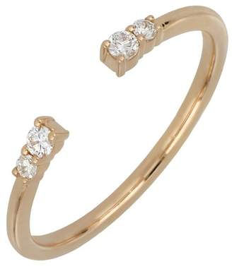 Bony Levy 18K Rose Gold Prong Set Diamond Stacking Open Band Ring - 0.09 ctw