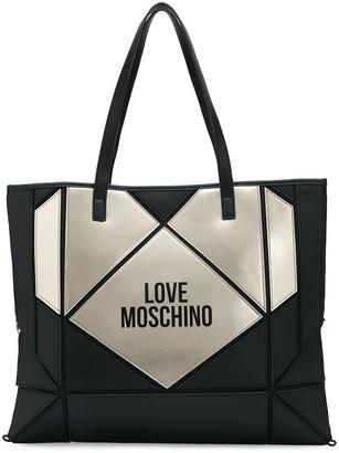 Love Moschino logo print heart tote