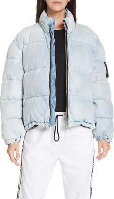 Alexander Wang alexanderwang.t Bleach Denim Puffer Coat