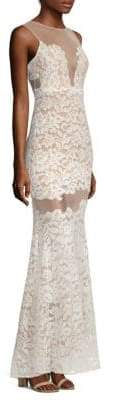 Rayna Sleeveless Floral Lace Gown