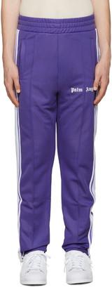 Palm Angels Purple Logo Track Pants $395 thestylecure.com