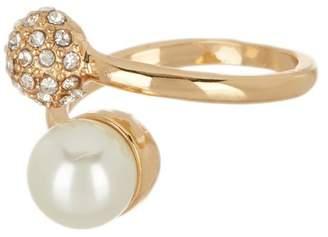 Nordstrom Rack Imitation Pearl Crystal Fireball Ring