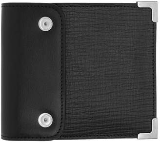 Maison Margiela Black and Red Strap Bifold Wallet