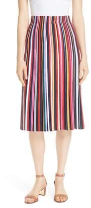 Tory Burch Ellis Stripe Pleated Skirt