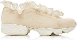 Ganni Harriet Lace Trimmed Sneaker