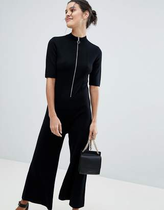 Whistles Limited Zip Front Knitted Jumpsuit