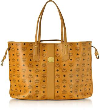 MCM Cognac Visetos Large Liz Shopper