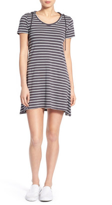 Element Stripe Hooded Dress $45 thestylecure.com