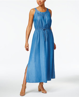 Style & Co Denim Maxi Dress, Created for Macy's $69.50 thestylecure.com